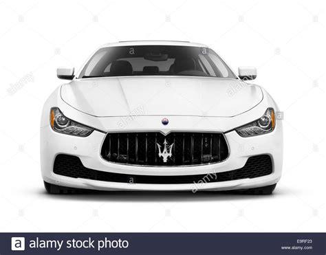 White 2014 Maserati Ghibli S Q4 Luxury Car Front View