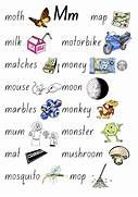 The Children Will Focus On Forming The M Correctly I Words That Start With M For Pinterest Things That Start With M Worksheet Free Coloring Pages Of Words That Begin With M