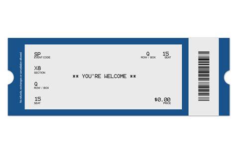 Concert Ticket Template Concert Ticket Template Peerpex