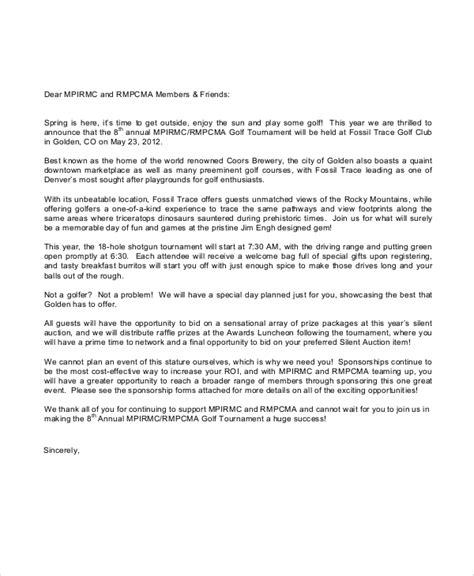 sles corporate golf sponsorship letter usps