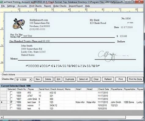 check printing template blank check template