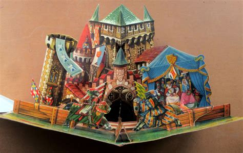 castle tournament  pop  book  illustrator