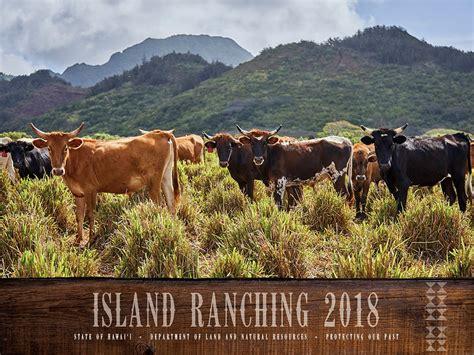 Hawai'i Dlnr Releases 2018 Island Ranching Calendar