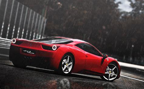 ferrari  italia   rain desktop pc