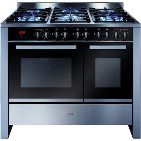 cm twin cavity range cooker electric ovens gas hob rvss