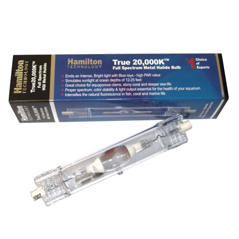 hamilton technology metal halide hqi 150w 20 000k ended aquarium light bulb 150 watts