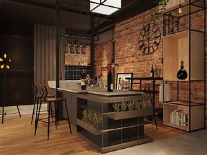 Three, Industrial, Style, Lofts, With, Natural, Accents