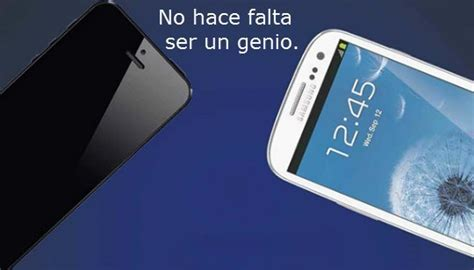 samsung compara al samsung galaxy   el iphone  en