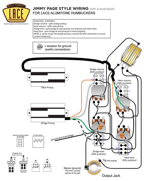 Push Pull Wiring Diagram Jackson by C 226 Blage Jimmy Page Avec Des Lace Alumitone Sur Gibson Sg
