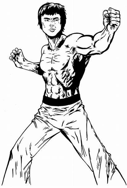 Bruce Lee Workout Training Program Drawing Type