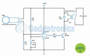 Force    Pressure Switch Circuit Using Fsr
