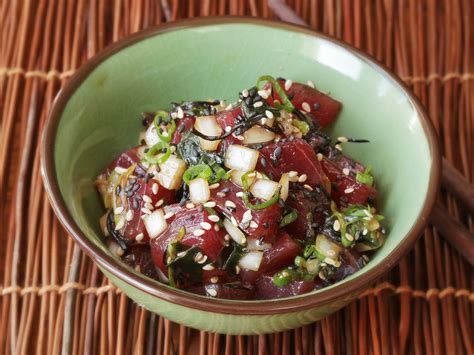 small japanese soaking ahi poke the simple hawaiian dish that 39 s best made at
