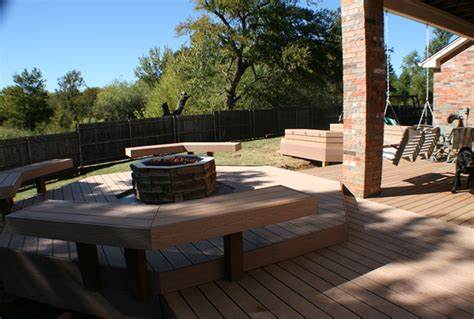 floating deck  fire pit home design ideas