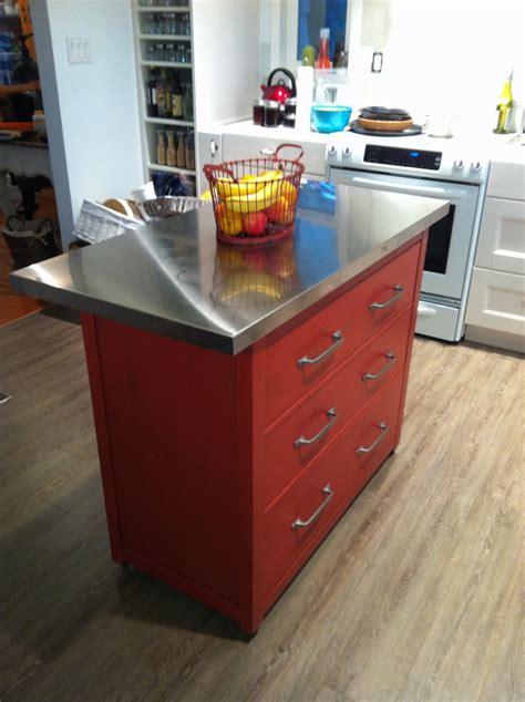 kitchen island  drawers  ikea hemnes hack ikea