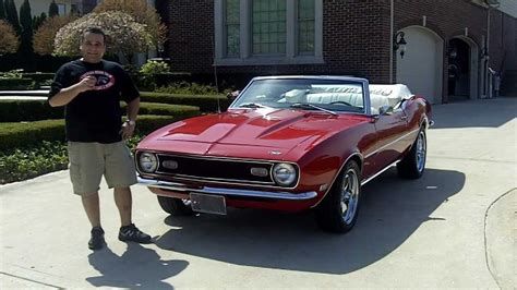 1968 chevy camaro convertible classic muscle car for sale in mi vanguard motor sales youtube