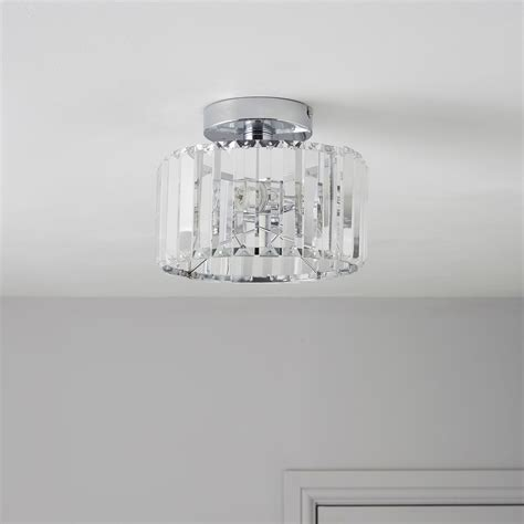 pereti cut glass 2 l flush ceiling light departments