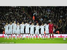 Wembley minute's silence broken by shameful football fans