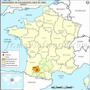 Carte Du Gers Détaillée : gers carte de france voyages cartes ~ Maxctalentgroup.com Avis de Voitures