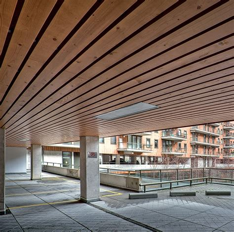 Suspended Wood Ceiling by Exterior Wood Ceilings Douglas