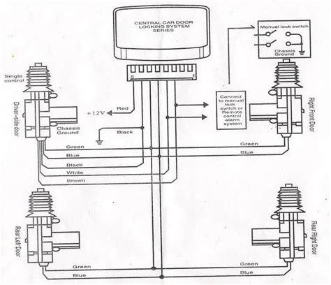 wiring diagram for car central locking new car remote keyless entry central locking kit 2 4 doors 2 5 day fedex express ebay