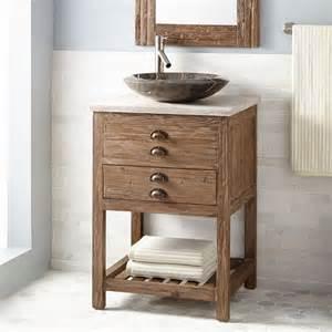 wood bathroom vanities 24 quot benoist reclaimed wood vessel sink vanity pine