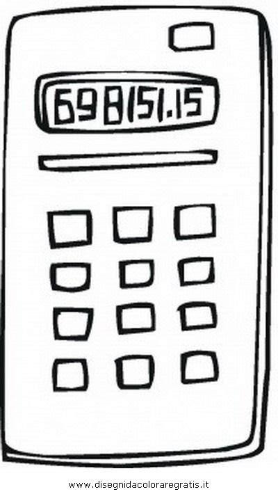 disegno calcolatrice misti da colorare