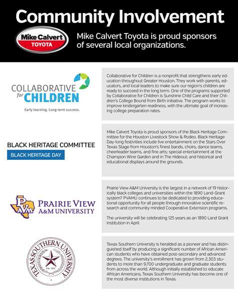 mike calvert toyota coupons mike calvert toyota community involvement new toyota