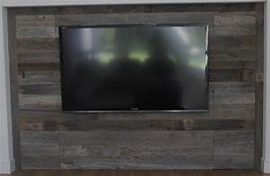 reclaimed barn wood contemporary home theater dallas With barnwood tv wall