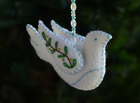 peace dove ornament  veronica sewing collective