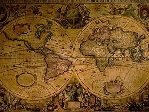 1024x768 Ancient World Map HD Wallpaper