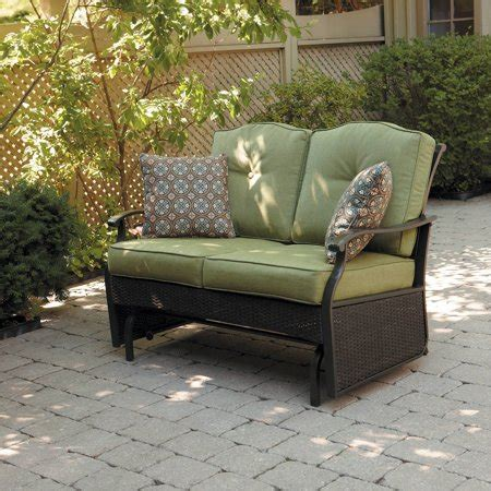 Loveseat Glider Outdoor by Better Homes Gardens Providence 2 Person Outdoor Glider