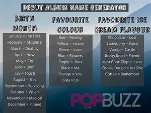 What Should You Name Your Debut Album PopBuzz