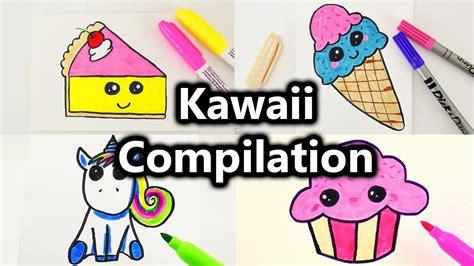 bilder zum nachmalen für kinder kawaii malen compilation s 252 223 e bilder zeichnen kawaii kuchen eis muffin einhorn und mehr