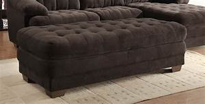 sale 141600 brooks chocolate plush microfiber sectional With plush sectional sofa furniture