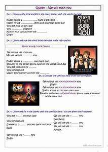 Queen - We Will Rock You Ket - A2 Worksheet