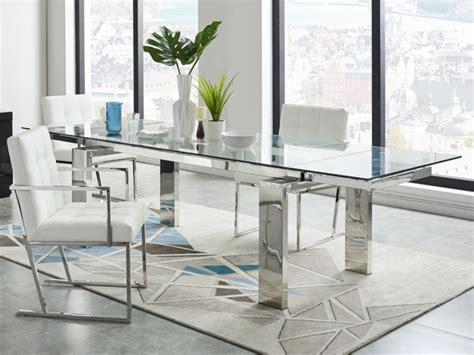 tavola da pranzo allungabile tavolo allungabile lubana vetro temperato metallo