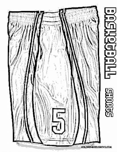 Basketball Coloring Jersey Shorts Drawing Nba Lebron