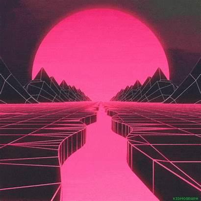 Retro Vaporwave 80s Aesthetic Wave Pink Pixel