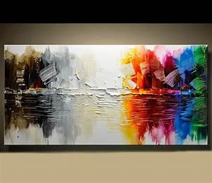 Abstrakte Bilder Acryl : abstrakte moderne leinwand malerei zeitgen ssische wand kunst acryl strukturierte malerei in ~ Whattoseeinmadrid.com Haus und Dekorationen