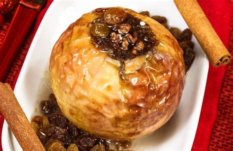 nutty baked apples  raisins recipe sparkrecipes