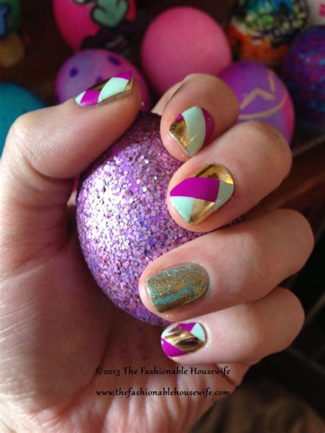 easter nails jamberry basket weave nail shields