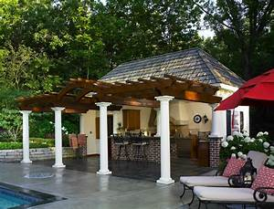 cabana for outdoor entertaining contemporary pool With backyard cabanas for sale