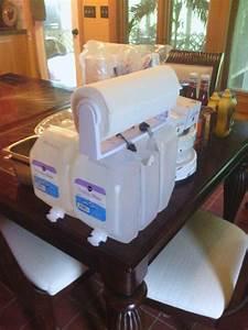 Paper towel holder mounted to water keg...handwashing ...
