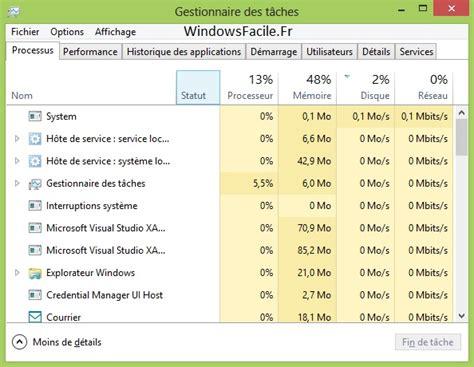 quel ordinateur de bureau choisir ouvrir le gestionnaire de tâches windowsfacile fr