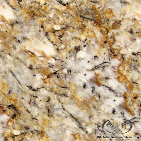 silver and gold granite kitchen countertop ideas