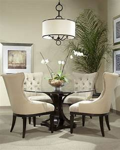 17 classy round dining table design ideas dining table With glass dining room table decor