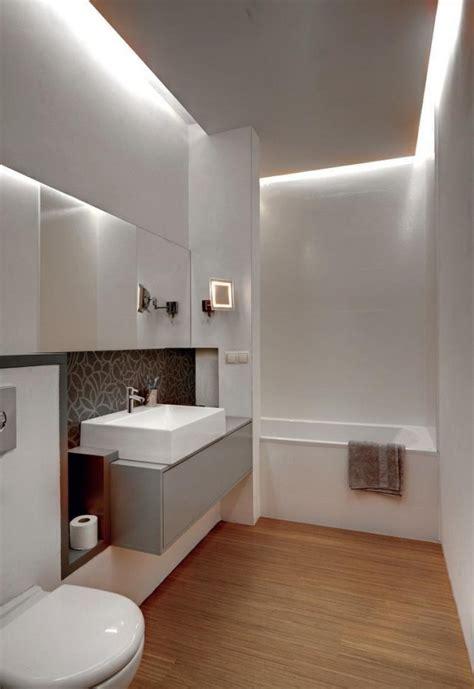Badezimmer Modern Einrichten Abgehängte Decke Indirekte