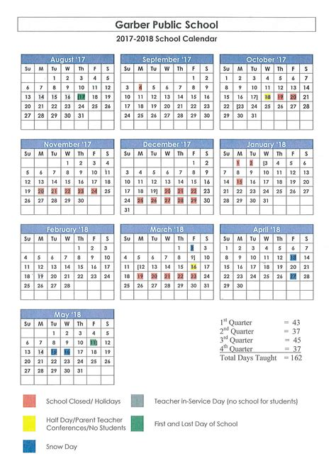 garber public schools latest news garber school year calendar