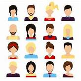 People avatar male and female human faces social network ...