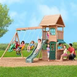 Big Backyard Playset by Walmart Big Backyard Windale Wooden Swing Set 399 Was 700